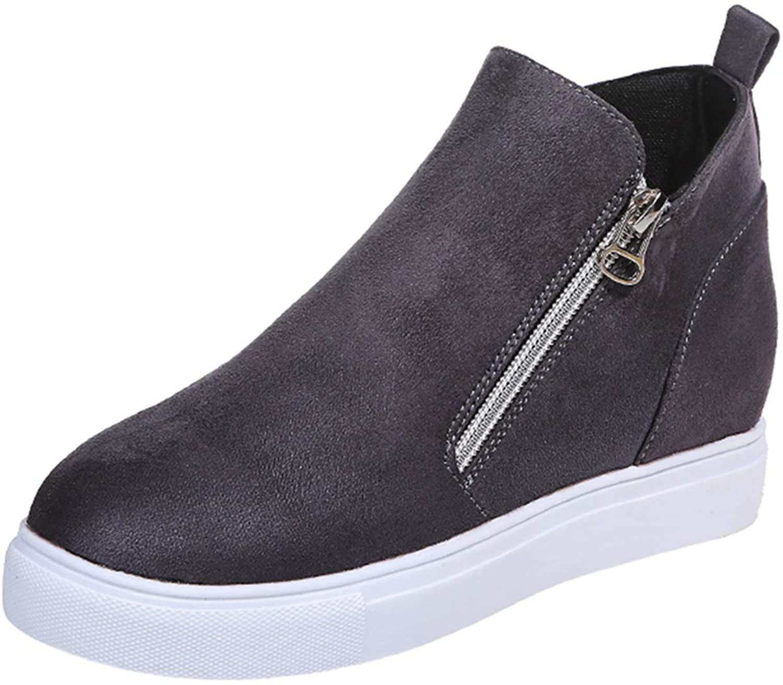 ZBYY 여성 캔버스 슬립 에 스니커즈 패션 하이 탑 슬립 에 플랫 발목 캔버스 라운드 발가락 에스파드리유 운동화