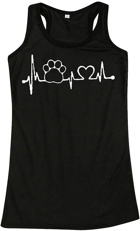 탱크 탑 레귤러 및 플러스 사이즈 스트랩 조끼 고양이 프린트 캐주얼 탱크 탑 블라우스 민소매 O 넥 티셔츠