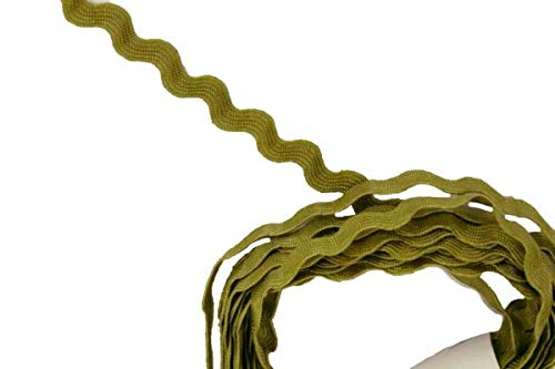MALOLIK FOR 5MM RIC RAC WAVE TRIM 4 YARDS CRAFTING & SEWING PROJECTS GIFT WRAPPING TISSUE PAPER GIFT BAGS - IS MOSS GREEN