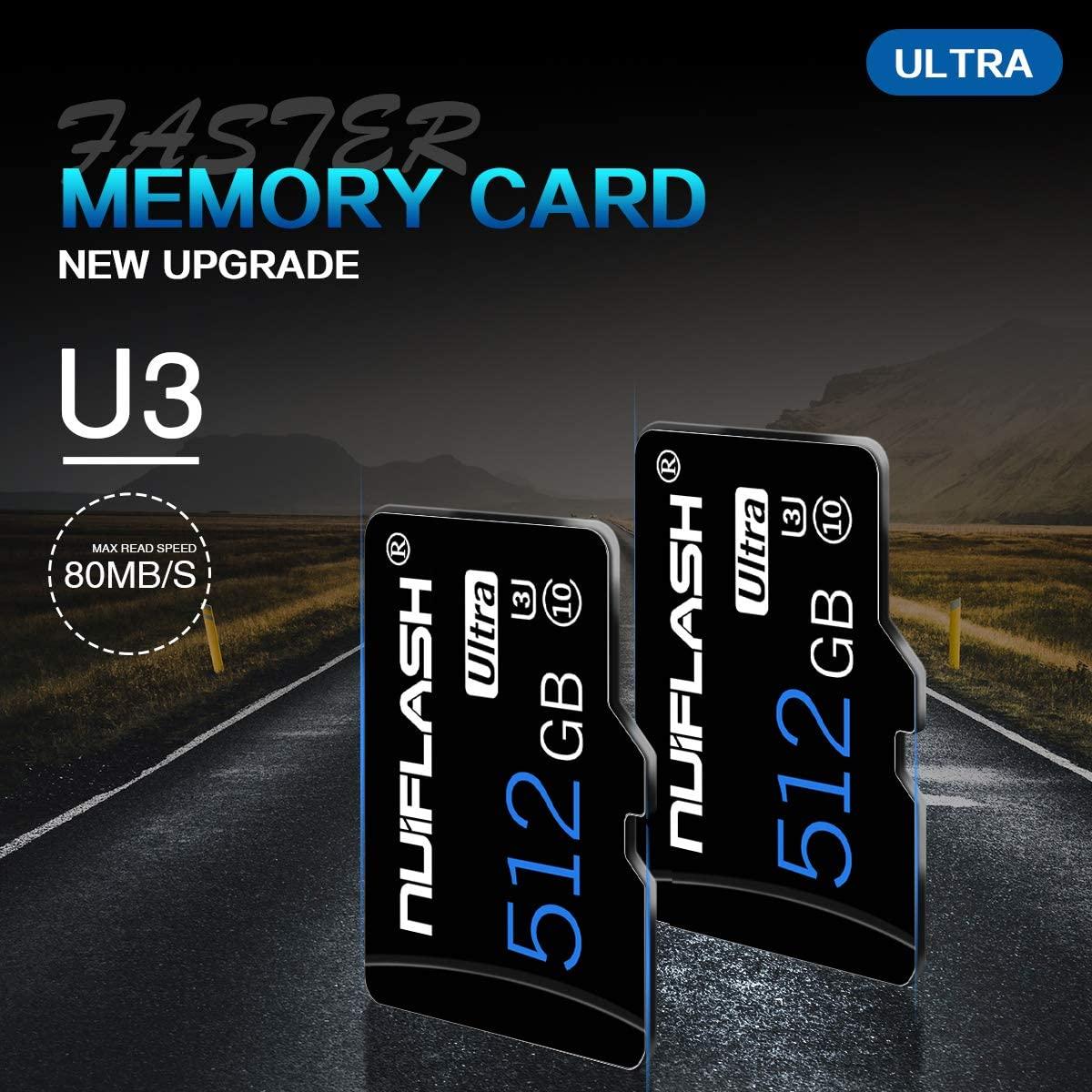 마이크로 SD 카드 512기가바이트 고속 클래스 10 마이크로 SD SDXC 카드 512 기가바이트 닌텐도 스위치에 대 한 SD 카드 어댑터 (512 기가바이트)