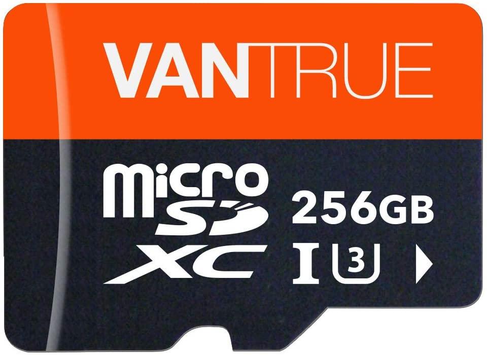 VANTRUE 256GB MICROSDXC UHS-I U3 V30 CLASS 10 4K UHD VIDEO HIGH SPEED TRANSFER MONITORING SD CARD ADAPTER FOR DASH CAMS BODY CAMS ACTION CAMERA SURVEILLANCE & SECURITY CAMS