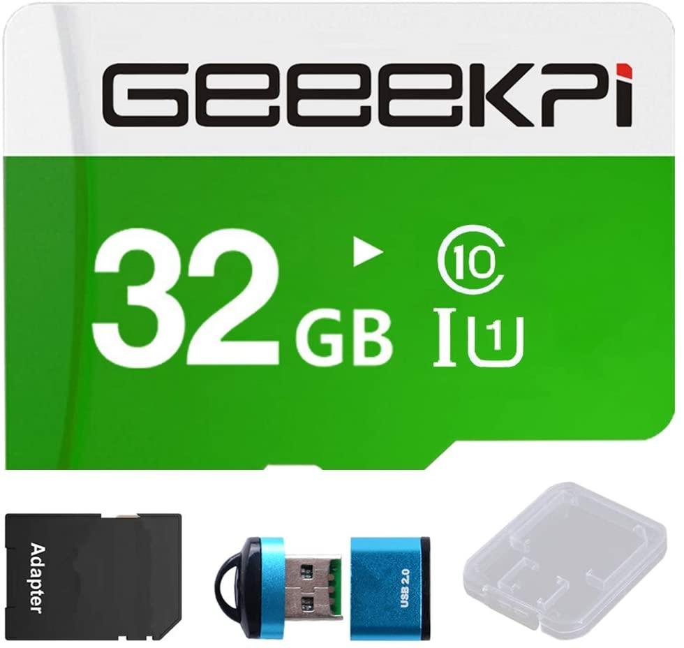 GEEEKPI 32GB PRELOADED (NOOBS) SD CARD FOR RASPBERRY PI CLASS 10 MICROSDHC MEMORY CARD CARD READER FOR ALL RASPBERRY PI MODELS PI 4 3B+ (PLUS) 3A+ 3B 2 ZERO