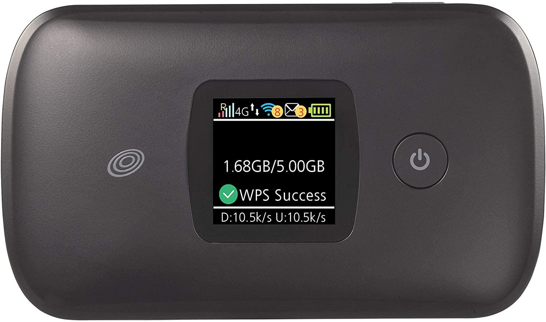 NET10 캐리어 잠금 MOXEE CDMA 4G LTE 모바일 핫스팟 - 최대 16 개의 WIFI 지원 장치 연결 - 내장 컬러 디스플레이