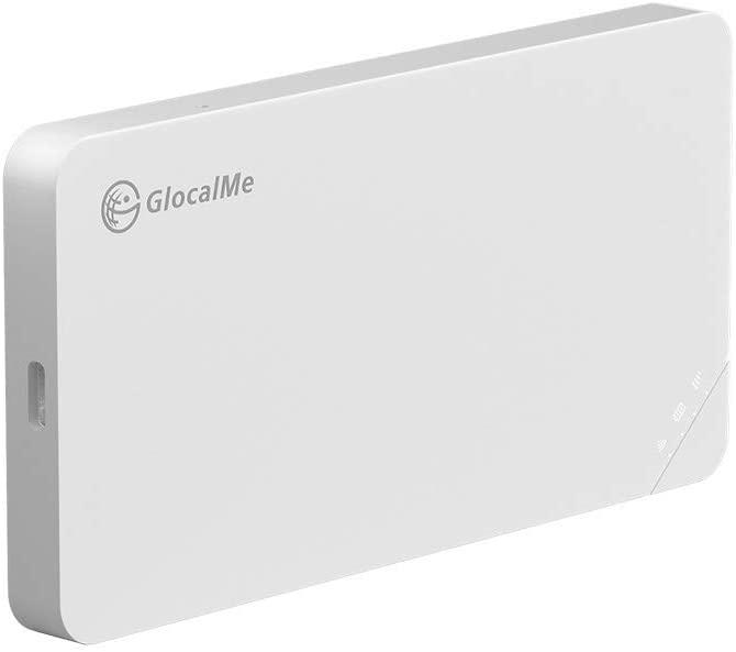 GLOCALME U3 4G LTE 모바일 핫스팟 전 세계 와이파이 휴대용 고속 모바일 WIFI 핫스팟 미국 8GB 및 글로벌 1GB 데이터 (화이트)
