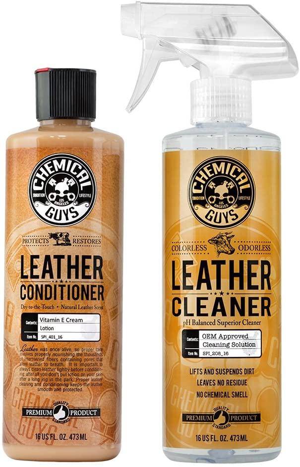 화학들 SPI_109_16 가죽 청소기와 가죽어컨 장비 사용을 위한 가죽 의류 가구 자동차 인테리어 신발 부츠 가방 및 이상(2-16OZ 병)