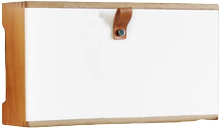 FXBFAG 저장 상자는 무선 WIFI 라우터가 저장 상자를 벽걸이 나무로 되는 세트 정상 상자 랙 소켓 보호자(색상:흰색 크기:332512.5CM)(색상:흰색 크기:332512.5CM)