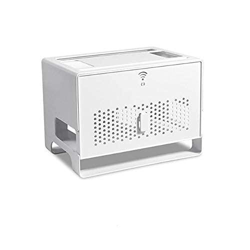 KDRICH 데스크탑 와이파이 라우터 저장 상자는 소켓 와이어 주최자이자 텔레비젼 세트 정상 상자스플레이 스탠드 전원 스트립 숨겨진 마무리 상자(색상:백색 | 중국)