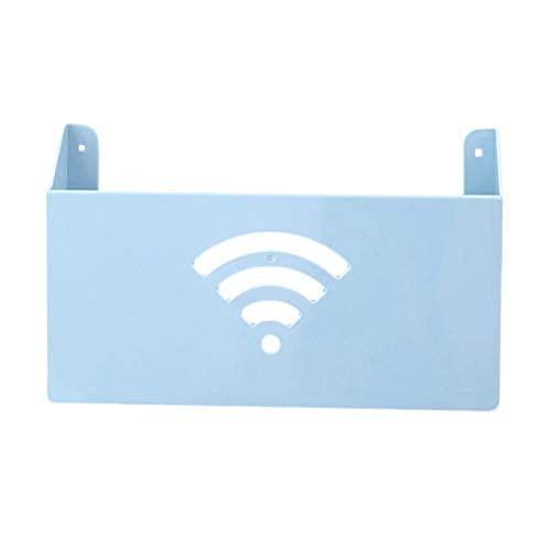 KDRICH 창의적인 실용적인 가정은 작은 크기 잘 고정된 와이파이 라우터 저장 상자 선반 플라스틱 상자 WIFI 저장 상자는 주최자-(색상:베이지)(색상:파란색 | 중국)