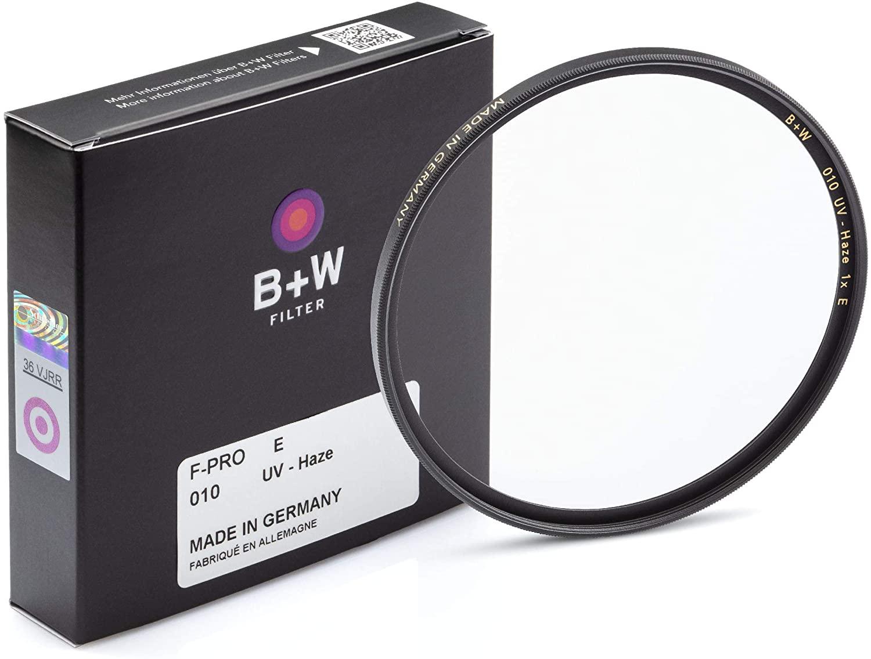 카메라 렌즈용 B + W 82MM UV 보호 필터(010) - 표준 마운트(F-PRO) E 코팅 2층 내성 코팅 사진 필터 82MM 클리어 프로텍터
