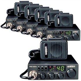 UNIDEN PRO520XL40 채널 CB 라디오 모바일   베이스 스캐너 양방향 CB 라디오(6 팩)