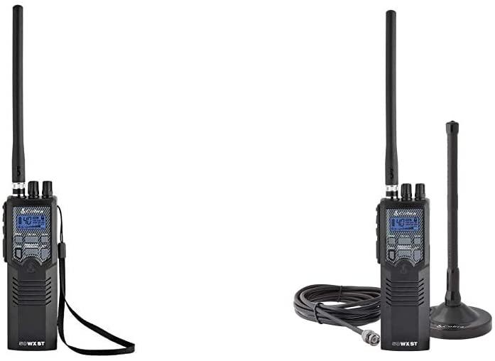 코브라 HH50WXST 손으로 개최 콜럼븀 라디오&HHRT50 도로 여행 콜럼븀 라디오 비상 라디오 TRAVEL ESSENTIALS 2-WAY 소형 라디오를 블랙으로 옥상 자석 산 안테나 NOAA 채널
