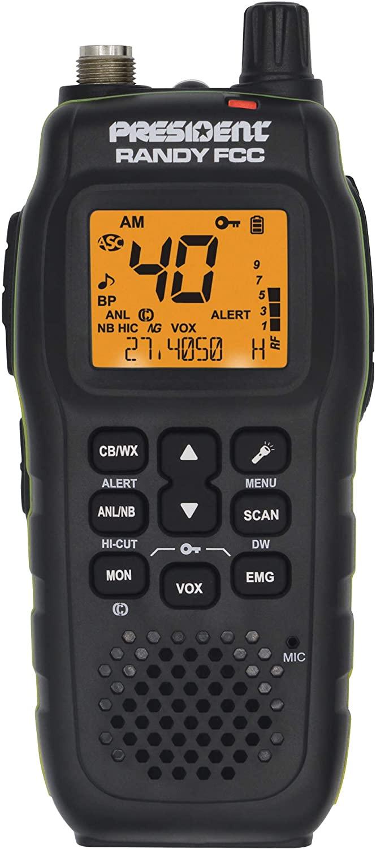 날씨 채널 및 경고와 대통령 랜디 FCC 핸드 헬드 또는 모바일 CB 라디오