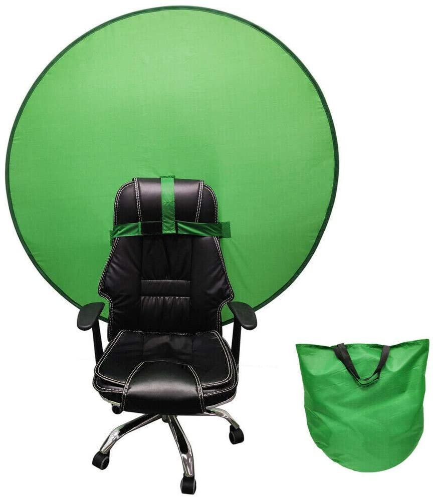 2021 PORTABLE WEBCAM BACKGROUND GREEN BACKGROUND SCREEN PORTABLE 4.65FT FOR PHOTO VIDEO STUDIO COLLAPSIBLE BACKGROUND SINGLE-SIDE CHROMAKEY GREEN SCREEN FOR CHAIR GREEN SCREEN CHAIR ATTACHMENT