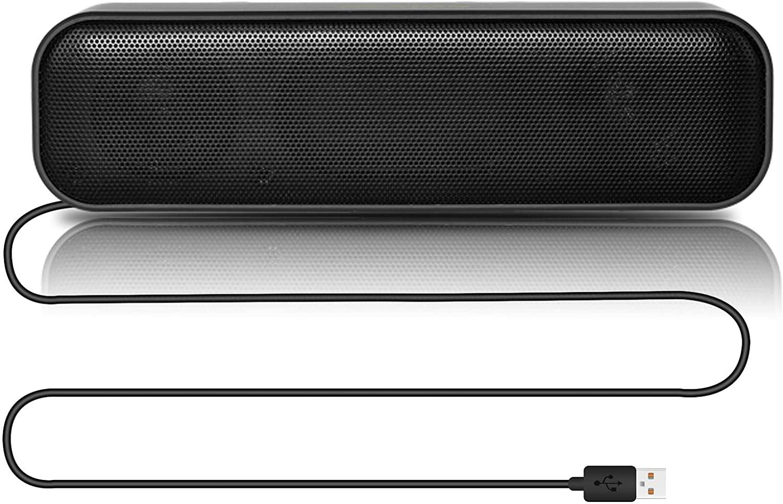 네시고 USB 컴퓨터 스피커 스테레오 사운드와 향상된베이스와 USB 오디오 디코더 스피커 컴퓨터 노트북 태블릿 게임 콘솔휴대용 미니 스피커 블랙