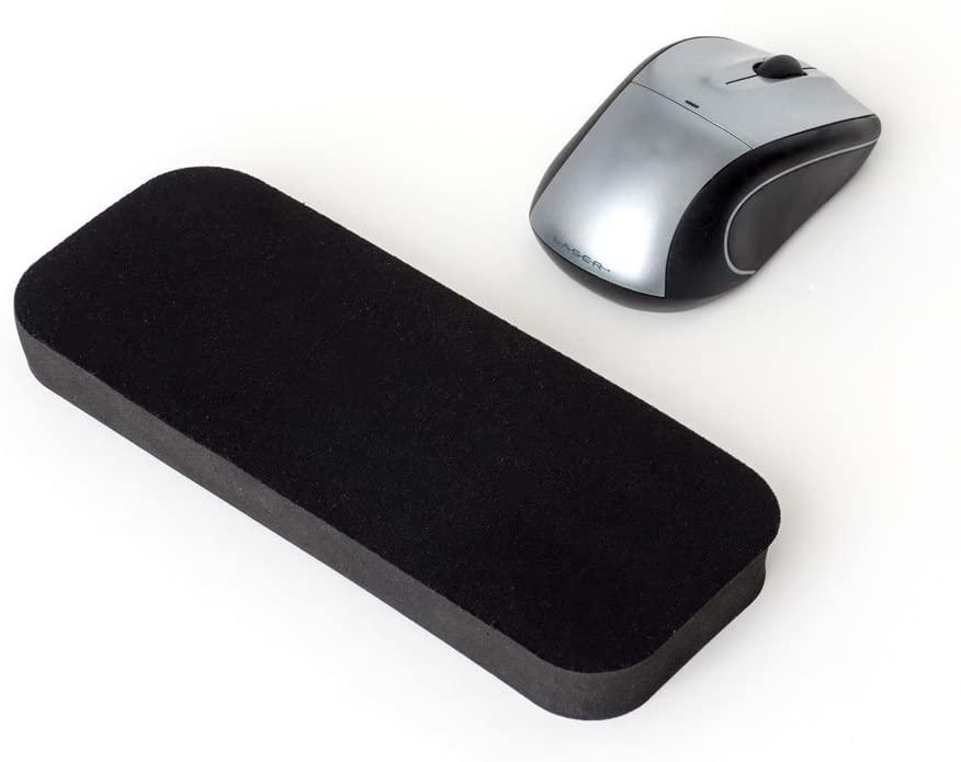 GRIFITI 지방 손목 패드 8 X 2.75 X 0.75 인치 블랙은 마우스 트랙 패드 트랙 패드 트랙 패드 블랙 나일론 표면에 대한 얇은 마우스 손목 휴식이다