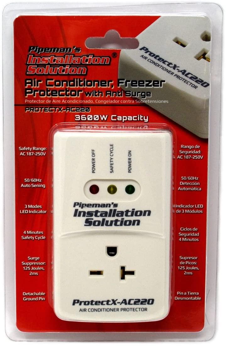 파이프맨의 설치 솔루션 AC 220V 서지 브라운 아웃 전압 보호기 3600 와트 에어컨 (새로운 모델)