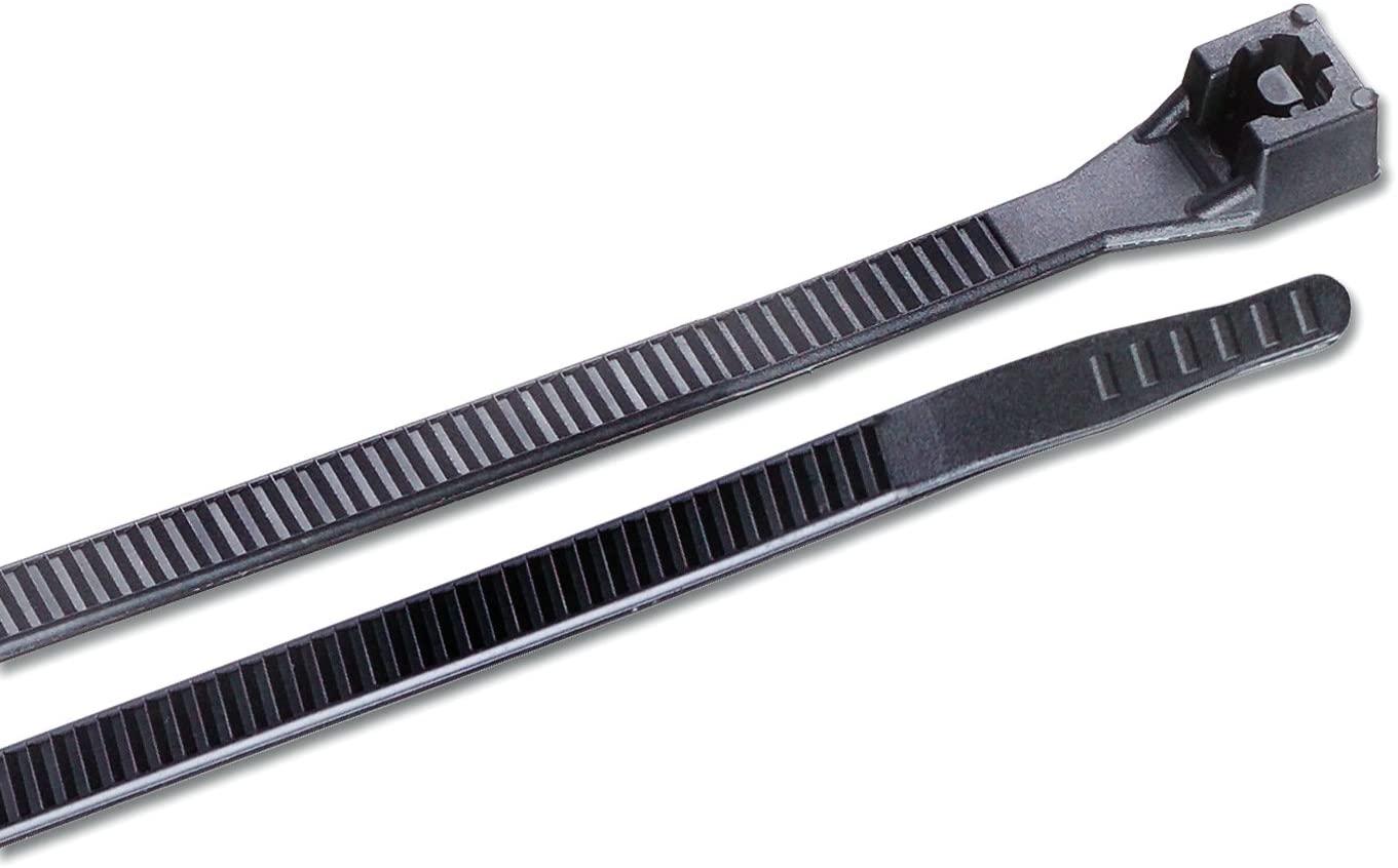 가드너 벤더 45-536UVBSP 헤비 듀티 케이블 넥타이 36 인치 180 파운드 전선 및 코드 관리 나일론 지퍼 넥타이 10 PK UV 내성 블랙