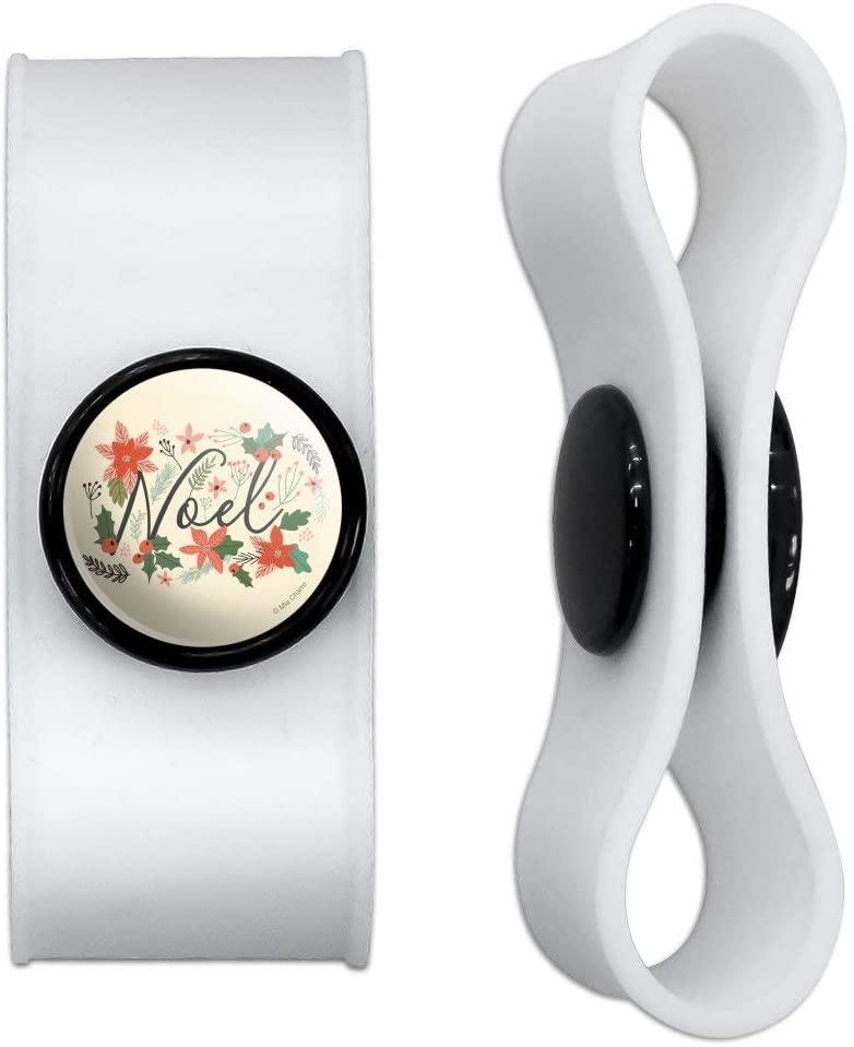 그래픽 및 더 노엘 크리스마스 홀리 포인세티아헤드폰 이어버드 코드 랩 - 충전 케이블 매니저 - 와이어 오거나이저 세트 2