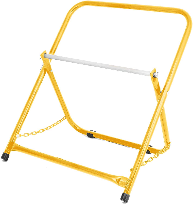 ADIRPRO 내구성 단일 차축 케이블 캐디 - 상업용 산업용 등급 스틸 와이어 디스펜서 - 컴팩트 한 디자인은 최대 20 직경과 100 LB 용량 (노란색)을 보유하고 있습니다