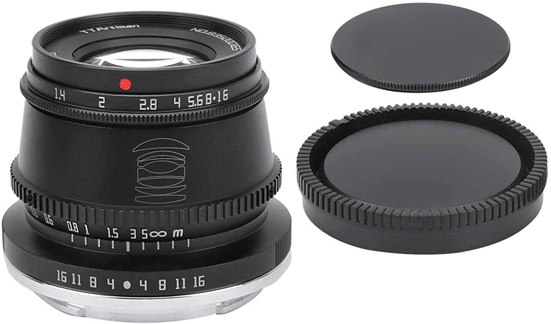 아쿠토 카메라 렌즈 알루미늄 합금 TTARTISAN 35MM F1.4 미러리스 카메라 렌즈 대형 조리개 수동 초점 미러리스 카메라 렌즈 용  E 마운트