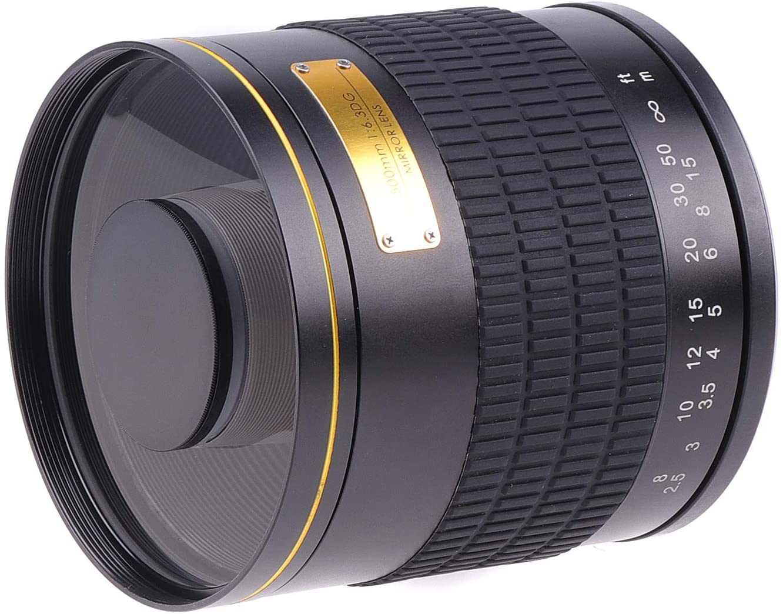 FOTO4EASY 500MM F6.3  알파 A9 A7 A7R A7RII A7S A7SII A6000 A6500 A6500 A5100 A5000 DSLR 카메라를 위한 T2 마운트 어댑터 링을 갖춘 수동 고정 초점 망원 미러 렌즈