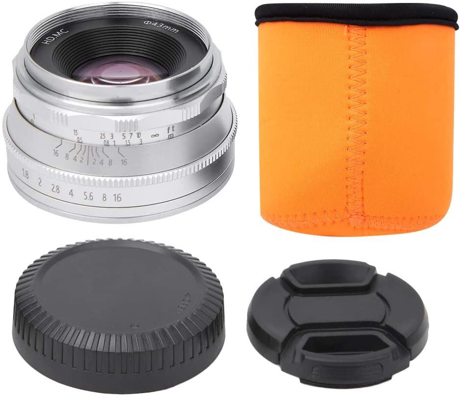 힐러리랜드 25MM 렌즈 F1.8 메탈 미러리스 카메라 렌즈 Z 마운트 매뉴얼 니콘 Z6 Z7 Z50 Z 마운트 미러리스 카메라 렌즈(실버)