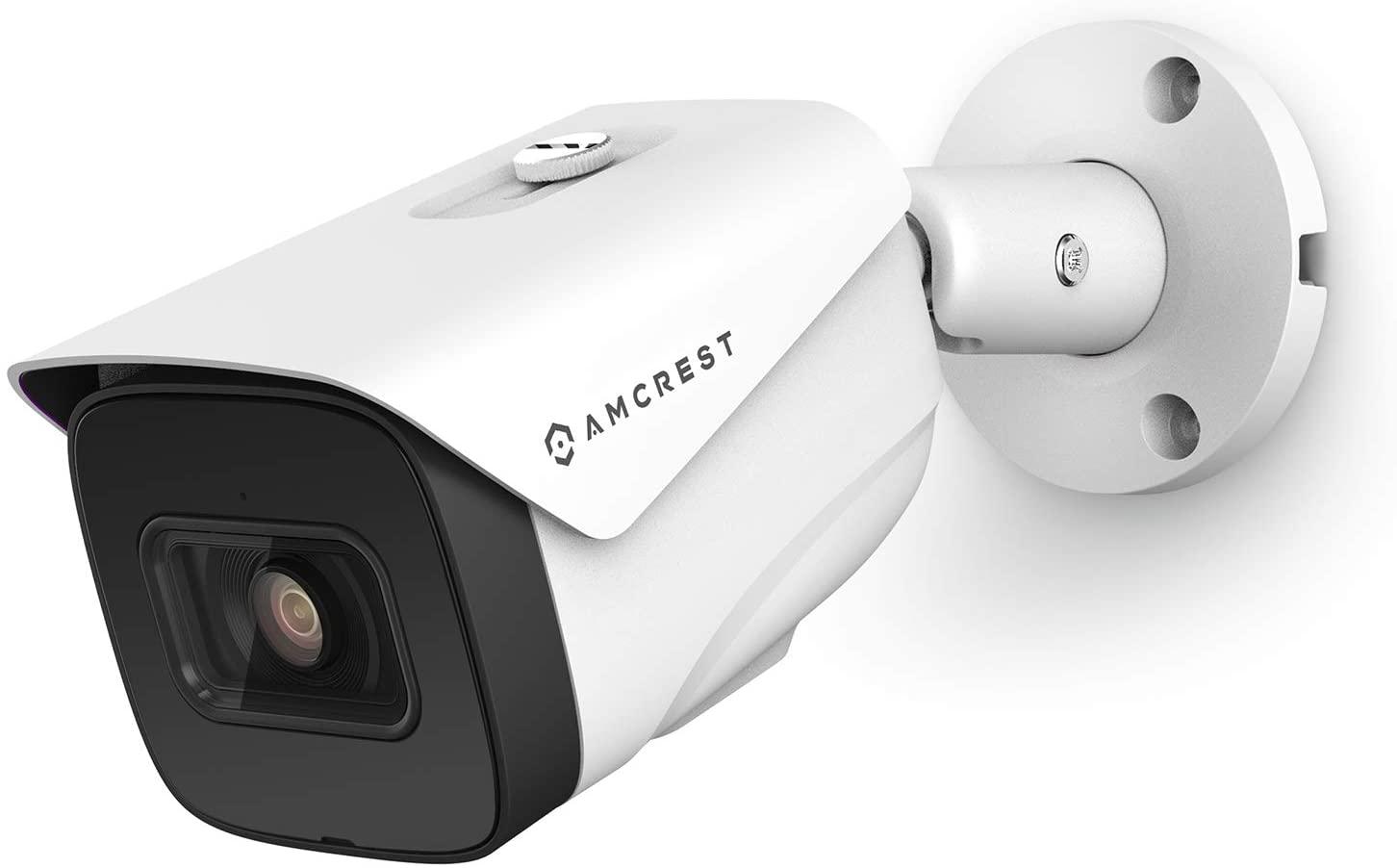 AMCREST 4K AI POE 카메라 30FPS 울트라 HD 8MP 총알 POE IP 카메라 보안 야외 카메라 98FTNIGHT 비전 2.8MM 렌즈 (108 °) IP67 내후성 4K (3840X2160) @30FPS 화이트 (IP8M-2696EW-AI)