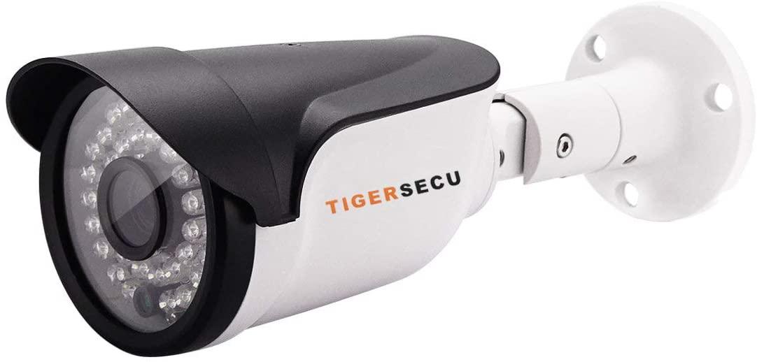 TIGERSECU 슈퍼 HD 1080P 하이브리드 4-IN-1 보안 카메라 OSD 스위치 TVI | CVI | AHD | CVBS | D1 DVR 실내 | 실외 용 내후성(전원 공급 장치 및 동축 케이블 별도 판매)