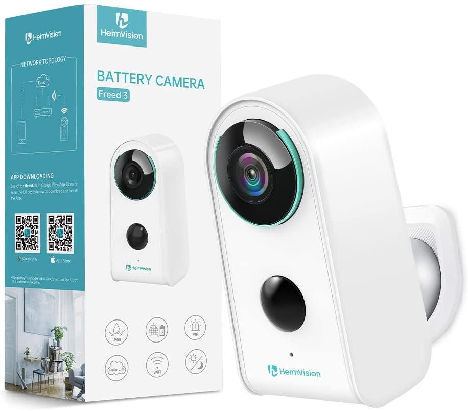 보안 카메라 실외 실내 무선 배터리 카메라 HEIMVISION 충전식 배터리 전원 카메라 클라우드와 와이파이 홈 보안 카메라 모션 감지 2 방향 오디오 1080P 방수 (해제 3)