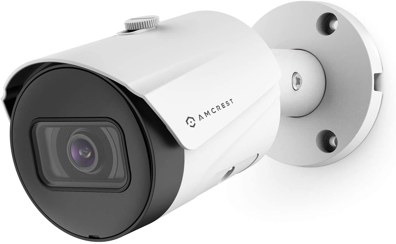 AMCREST ULTRAHD 5MP OUTDOOR POE CAMERA 2592 X 1944P BULLET IP SECURITY CAMERA OUTDOOR IP67 WATERPROOF 103° VIEWING ANGLE 2.8MM LENS 98.4FT NIGHT VISION 5-MEGAPIXEL IP5M-B1186EW-28MM (WHITE)