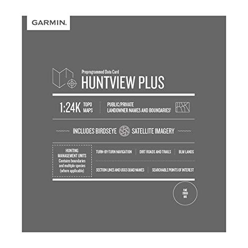 가민 헌트뷰 플러스 가민 핸드헬드 GPS 장치에 대한 사냥 관리 단위와 미리로드 된 마이크로 SD 카드 플로리다