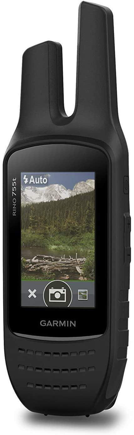 가민 리노 755T 거친 핸드헬드 2웨이 라디오 | GPS 네비게이터 와 카메라 및 사전 로드 된 TOPO 매핑 (갱신)