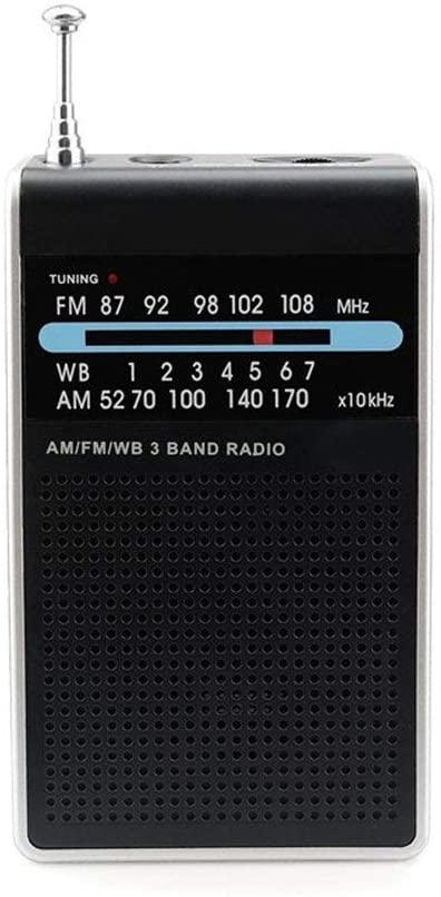 라디오 MULTIFUNCATION FM AM WB3 밴드 라디오 비상 포인터 튜닝 라디오의 미니 소형 라디오 휴대용 포켓 라디오 수신기 BULIT-에 외부 스피커와 함께 날씨 경고