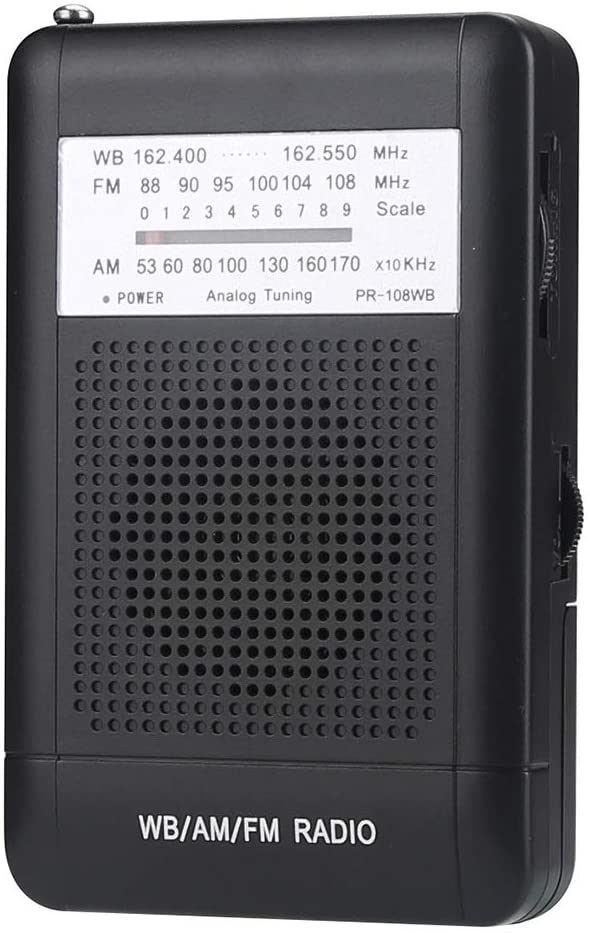다기능 클리어 헤드폰 잭 라디오 야외 홈 AM FM WB 일기 예보 미니 라디오 시끄러운 사운드 스피커 NOAA 내장 안테나