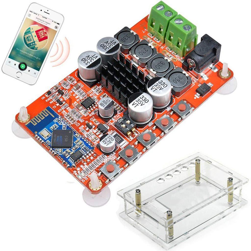 DAOKI 오디오 수신기 증폭기 보드 TDA7492P50W+50W WIRELESS BLUETOOTH4.0 디지털 오디오 증폭기 보드 듀얼 채널 2X50WATT DC8-20V12V15V+아크릴 SHELL