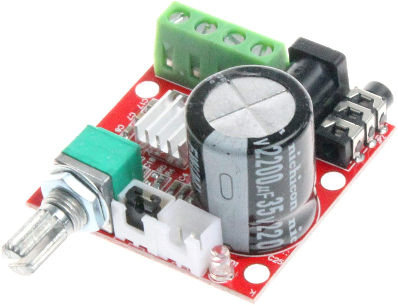 NOYITO DC12V PAM8610 소형 스테레오 앰프 오디오 증폭 보드 클래스 D 디지털 방식으로 휴대용 모듈 A10W10W 듀얼 채널 증폭기