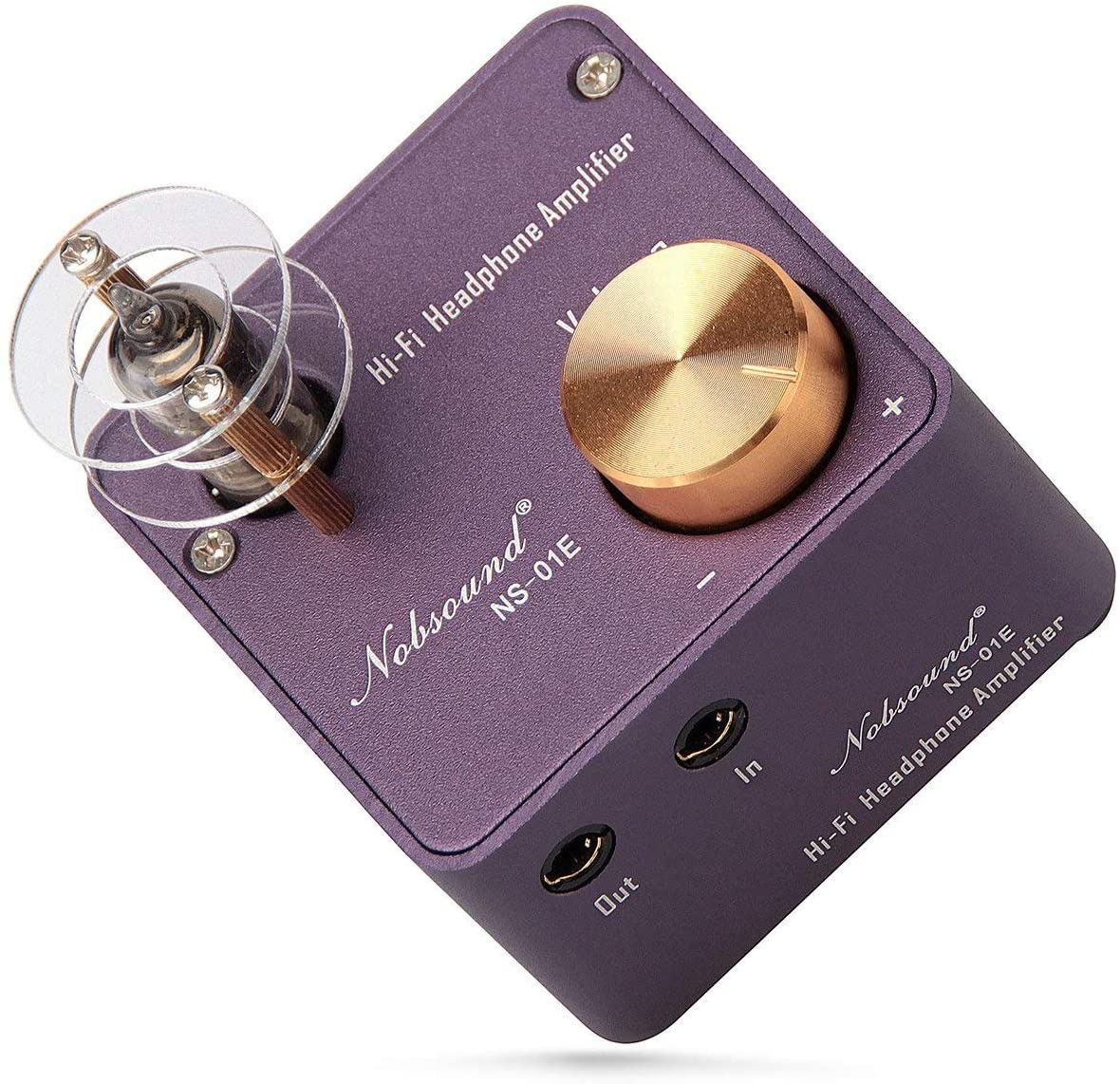 NOBSOUND NS-01E 미니 튜브 헤드폰 앰프 스테레오 HIFI 앰프 오디오 프리 앰프(자주색)
