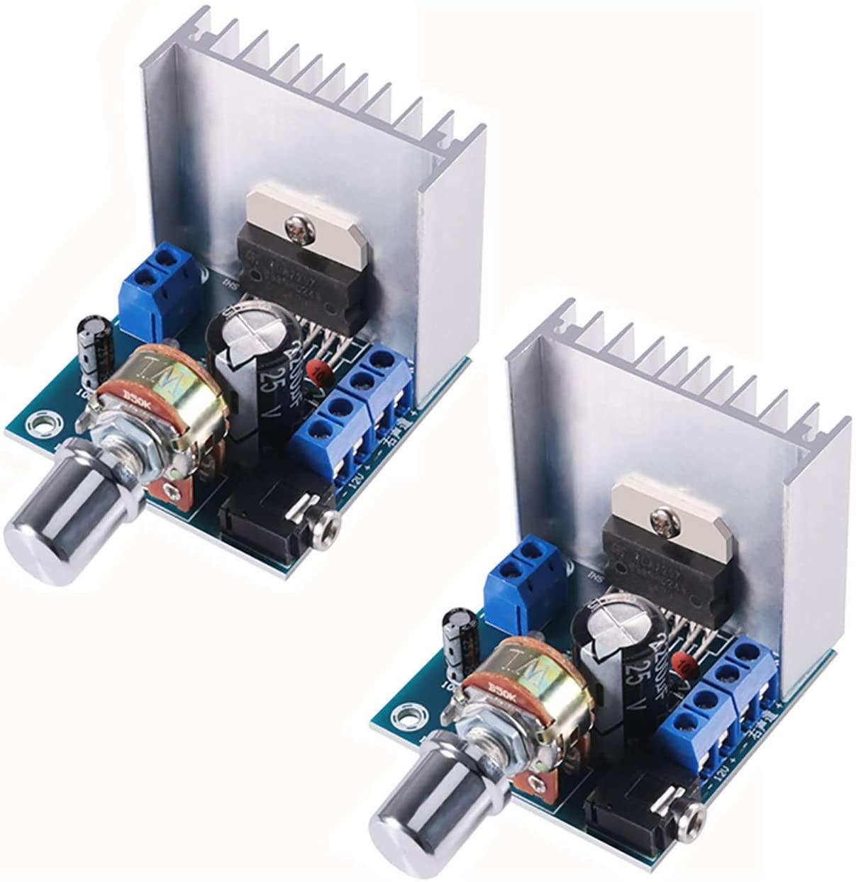 TDA7297 15W+15W 디지털 앰프 모듈 30W 오디오 전력 12V DC 소형 스테레오 앰프를 증폭 듀얼 채널 파워 스테레오 호환 DIY 음 증폭 시스템 구성 요소 자동차 컴퓨터 스피커