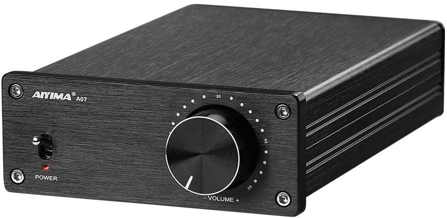 AIYIMA A07TPA3255 전력 증폭기 300WX2HIFI 클래스 D 스테레오 디지털 오디오 앰프 2.0 음 증폭기에 대한 가정 극장 스피커 시스템(A07+32V DC 전원 어댑터)