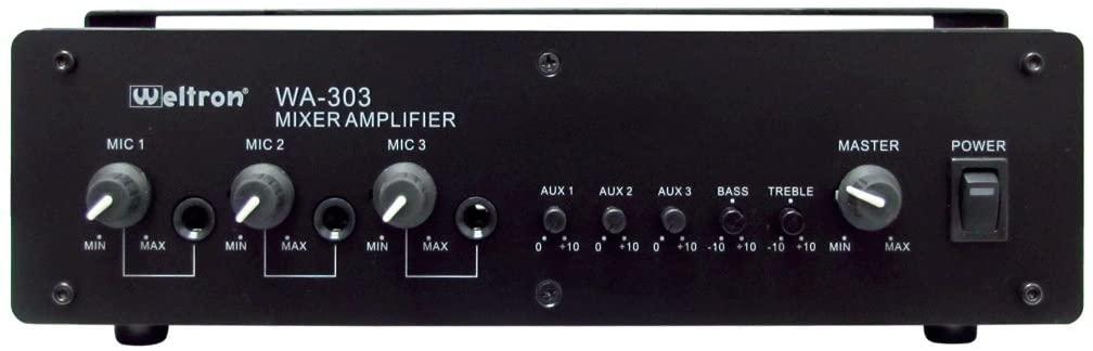 WELTRON-상업용 오디오 컴포넌트 70V 앰프 검정(WA-303)
