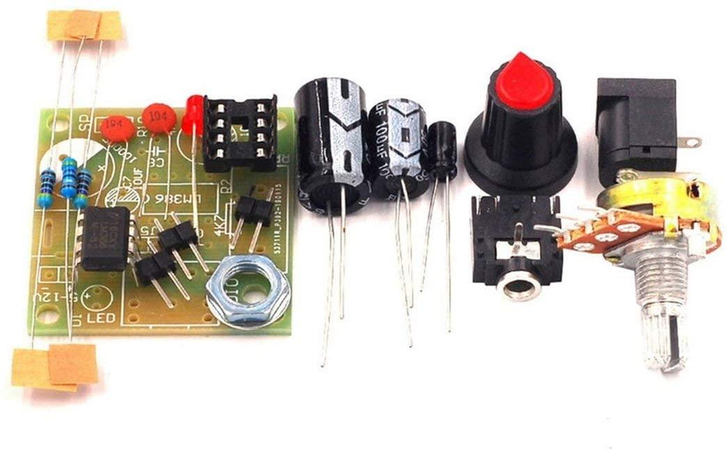 LM386 슈퍼 미니 3V-12V 전력 증폭기 보드 정장 키트 전자 DIY 키트 오디오 증폭 모듈 낮은 소비