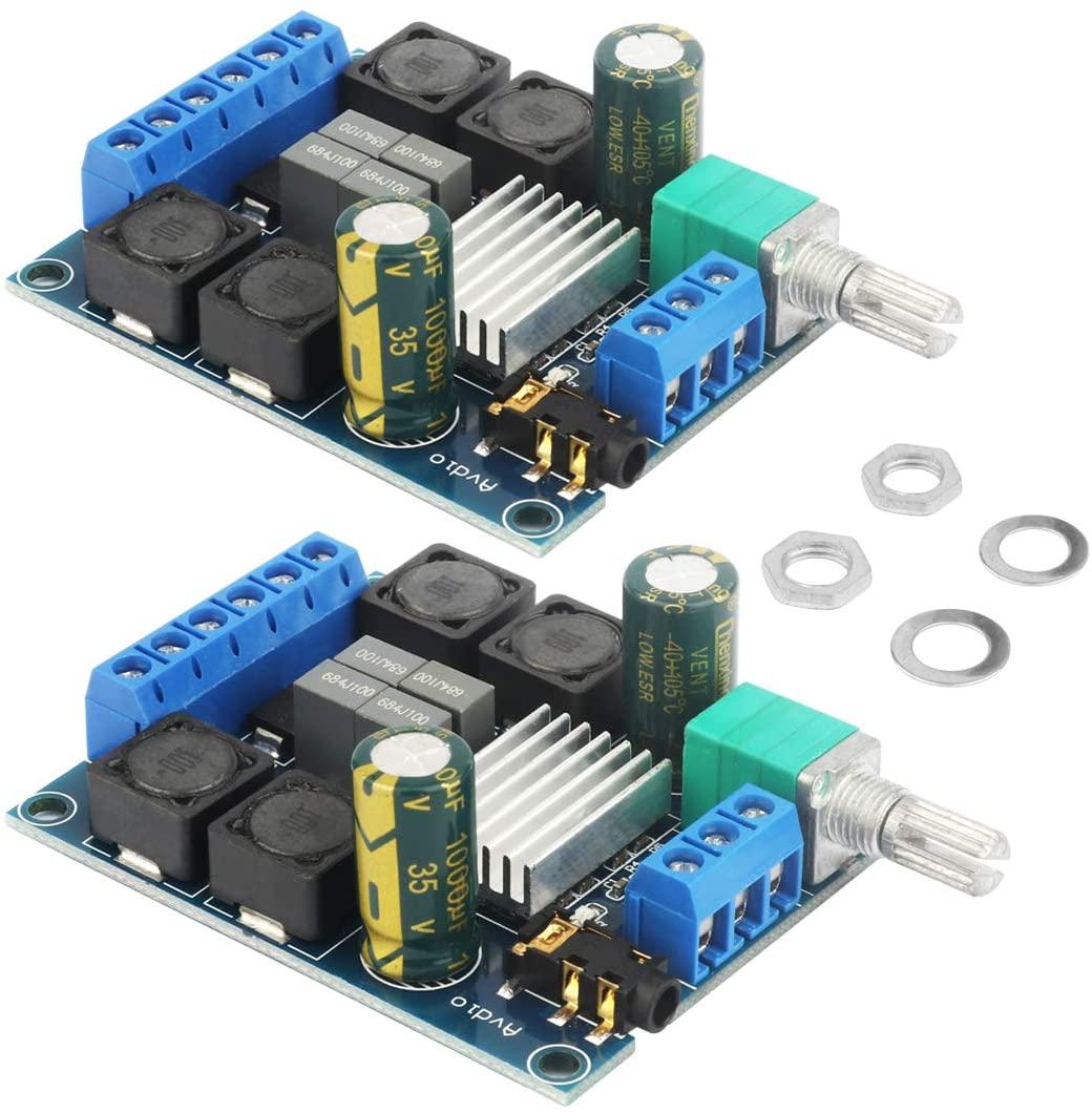 2PCS TPA3116D2 클래스 D 스테레오 DC5V 24V2X50W 고성능 디지털 오디오 앰프 우퍼 전력 증폭기 널을 위해 적당한 홈 오디오 자동차 스피커 DIY