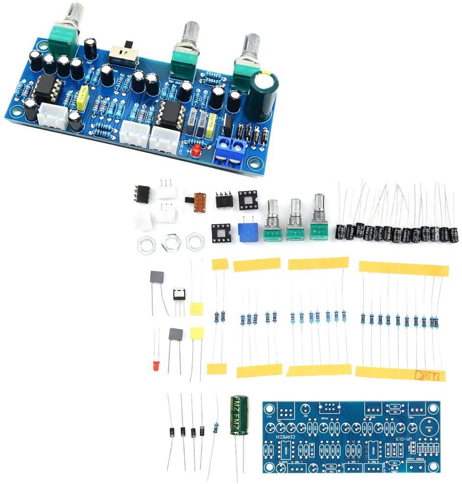 서브우퍼 PRE-증폭기를 프리앰프 보드 DC12-30V AC9-20V2.1 채널 프리 앰프 보드 SUBWOOFER 낮은 패스 필터 전치 증폭기 전자 부품