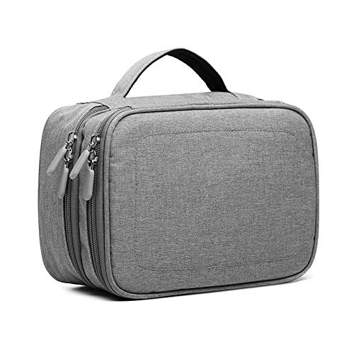 NNDQ ELECTRONIC ORGANIZER TRAVEL CABLE ORGANIZER BAG COMPACT TRAVEL ORGANIZER BAG PORTABLE CORD ORGANIZER TRAVEL BAG FOR CABLE STORAGE