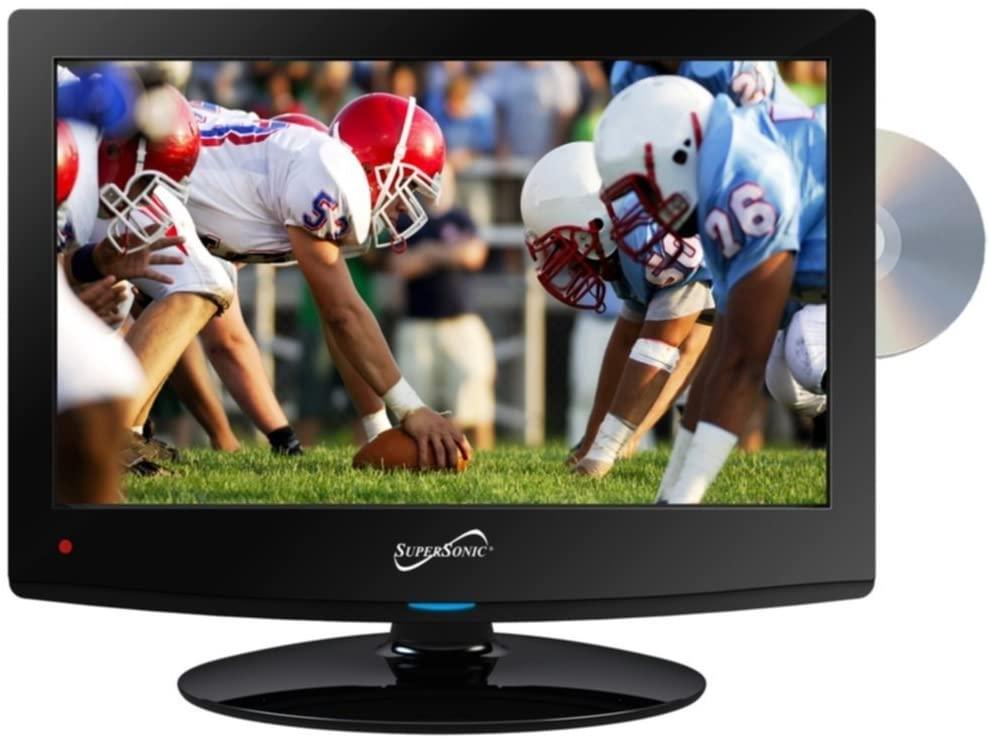 초음속 SC-1512LED HDTV15 블랙 W | 내장 DVD 플레이어 USB 및 듀얼 튜너 소비자 전자