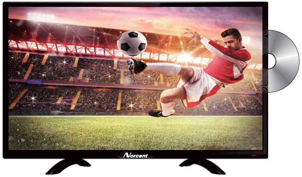 NORCENT24INCH720P HD LED 백라이트 평 DVD 콤보 TV USB VGA HDMI 디지털 방식으로 텔레비젼 조율사에 케이블을 구축 DVD 플레이어 듀얼 채널 3W 스피커 모니터 텔레비전(갱신)