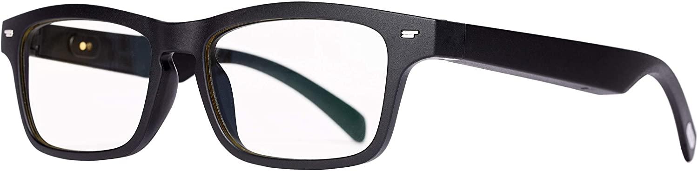 밍지 스마트 안경 K2 블루테투스 뮤직 콜 콜 편광 렌즈 안티 블루 레이 ... (블랙)