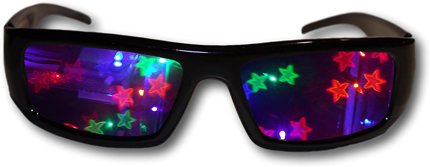 ALTERNATIVE IMAGINATION DOUBLE STARS 3D DIFFRACTION GLASSES - PERFECT FOR RAVES MUSIC FESTIVALS AND MORE