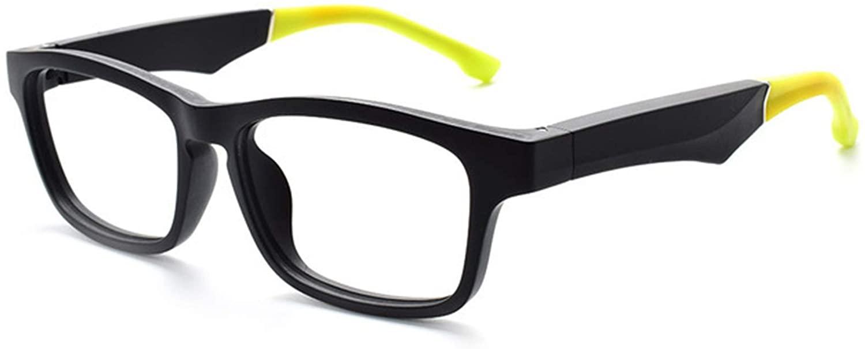 KTYXGKL 스마트 블루투스 선글라스 음악을 듣는 무선 방수 안경 남성 용 스마트 폰과 호환되는 블루 라이트 필터 스포츠 안경 (색상 : 노란색)