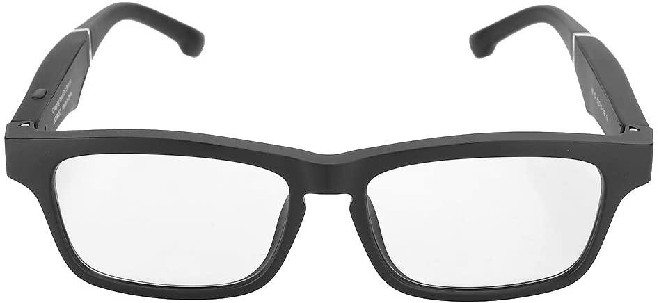 070 스마트 안경 블루투스 경량 휴대용 5.0 USB 스마트 편광 안경 무선 음악 통화 이어폰 선글라스 (블랙)